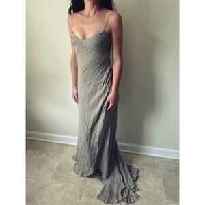 J. Mendel Paris Gown Size 2 Olive Green Tulle